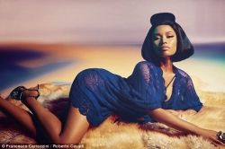 Nicki Minaj Poses In Stunning Outfits As She Emerges New Face Of Roberto Cavalli
