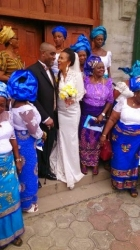 First Photos from Ibinabo Fiberesima's White Wedding