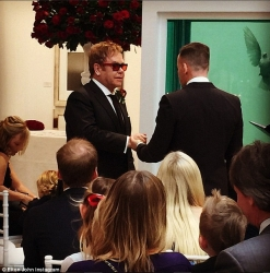 Photos From Sir Elton John And David Furnish's Wedding
