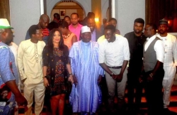 President Jonathan Meets Entertainers & Nollywood Practitioners In Lagos