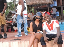 Victoria Kimani, Davido and The HKN Crew Having Fun on Beach Cruise (PHOTOS)