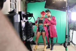 "Behind The Scene Photos From Yemi Alade & Phyno's ""Taking Over Me"" Video Shoot"