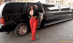 Omotola Jalade Ekeinde Arrives In Abuja Looking Hot And Sensual
