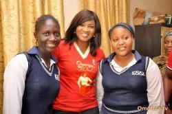 Omotola Jalade Visits Govt School Lugbe