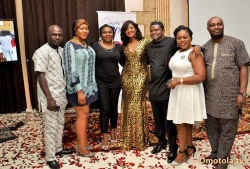 Photos From The Private Dinner Organised In Honour Of Omotola Jalade In Abuja