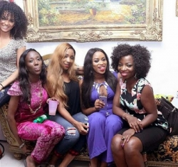Photos: Check Out What Toyin Lawani Wore On Her Birthday + Party Pictures