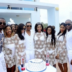 Checkout Photos From Quilox Boss,Shina Peller All White Beach Birthday Party